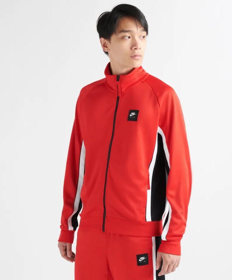 Nike Sportswear AIR PK Poly Giacca Sportiva Rosso tasche con zip 0