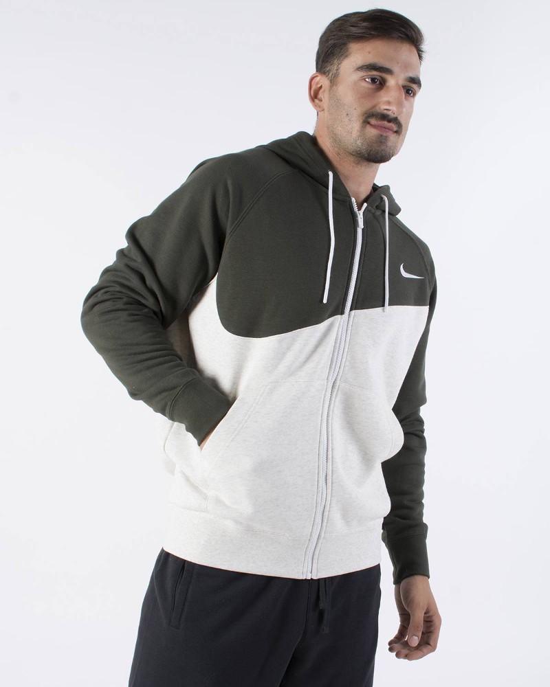 Nike Giacca felpa Sportiva Cotone Sportswear Swoosh Hoodie FZ 0
