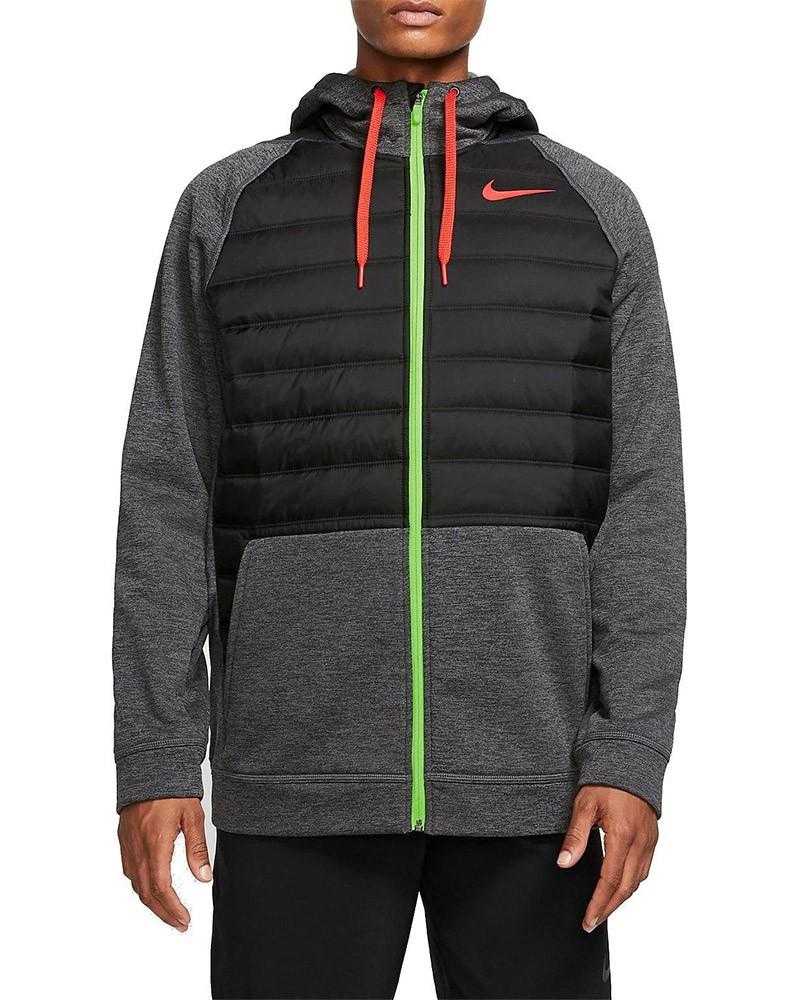 Nike Giacca Sportiva Giacca Sportiva Therma Hoodie Grigio 032 tasche con zip 0