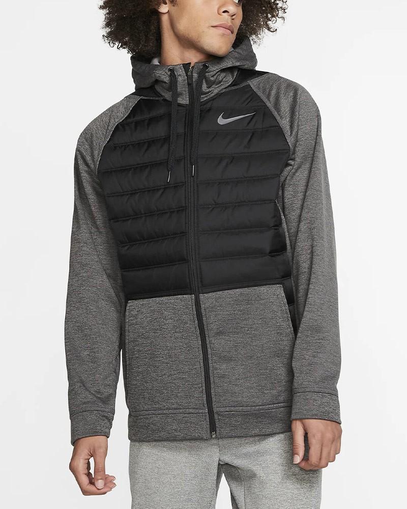 Nike Giacca Sportiva Therma Hoodie 2019 20 Uomo Grigio Sportswear Lifestyle 0