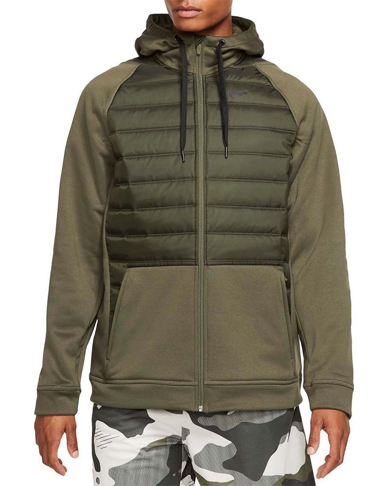 Nike Giacca Sportiva Therma Hoodie Verde 2019 20 Uomo Sportswear Lifestyle 0