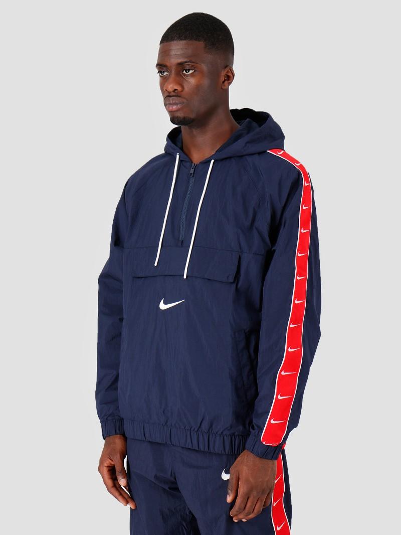 Nike Giacca Sportiva Uomo Blu Swoosh Windrunner mezza zip 0