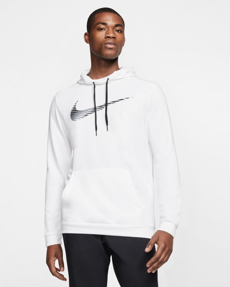 Nike Felpa Cappuccio Hoodie Polsini a Costine Cappuccio Bianco COTONE 2020 Uomo 0