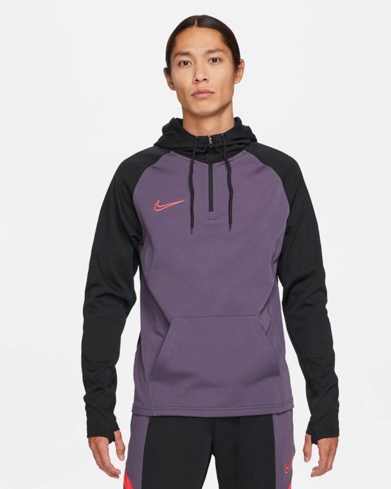 Nike Felpa Cappuccio Hoodie Viola 2021 Dri-FIT Academy mezza Zip Drill Uomo 0