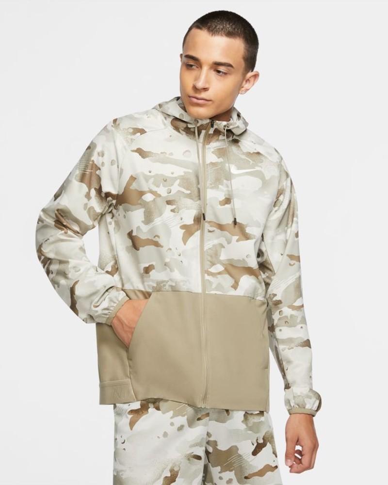 Nike PRO FLEX VENT hd fz Giacca Sportiva vento pioggia Uomo khaki Camouflage 0