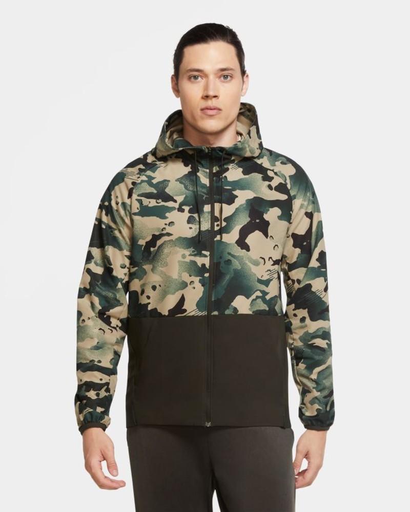 Nike PRO FLEX VENT hd fz Giacca Sportiva Vento pioggia Uomo Camouflage Militare 0