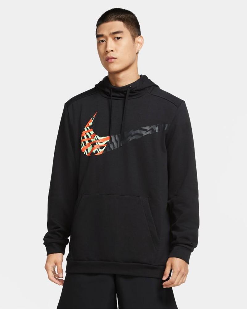 Nike Felpa Cappuccio Hoodie Uomo DRI-FIT PX pullover Nero con tasche Cotone 0