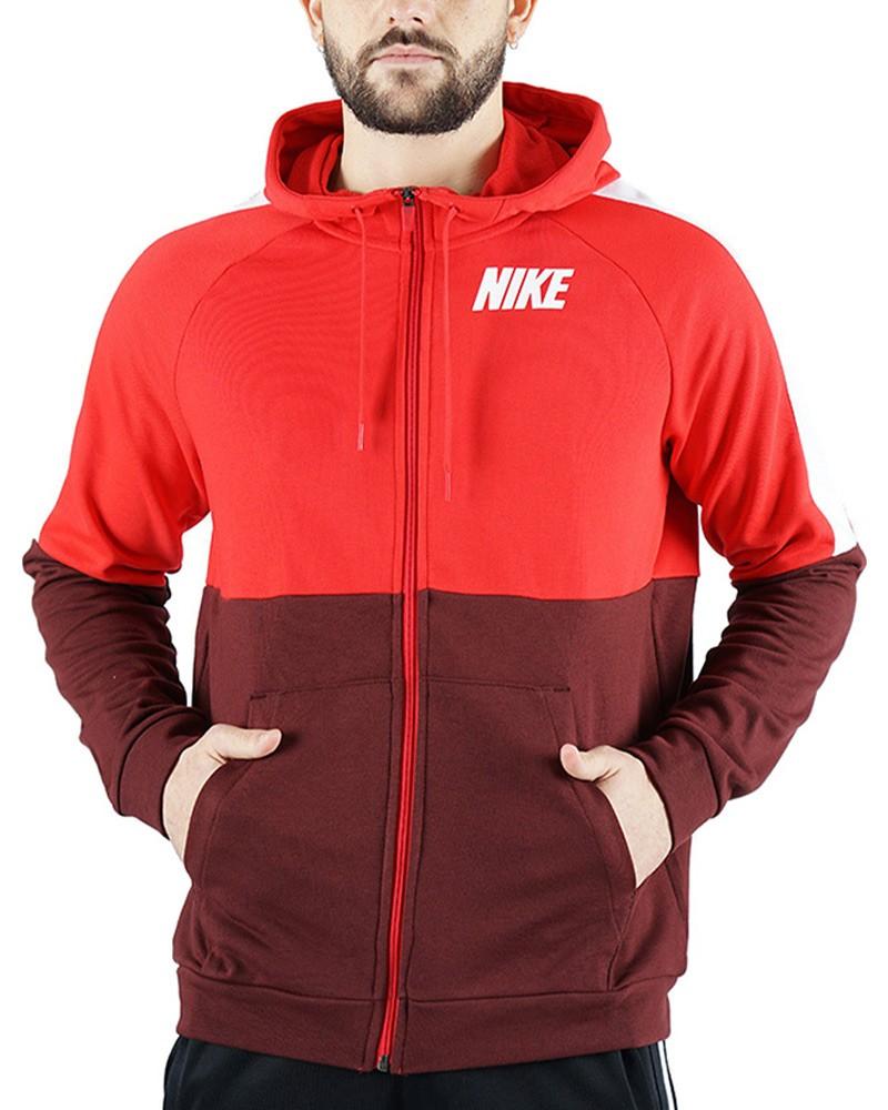 Nike Felpa Giacca SportivaCappuccio Hoodie Rosso 2020 21 Training con tasche 0