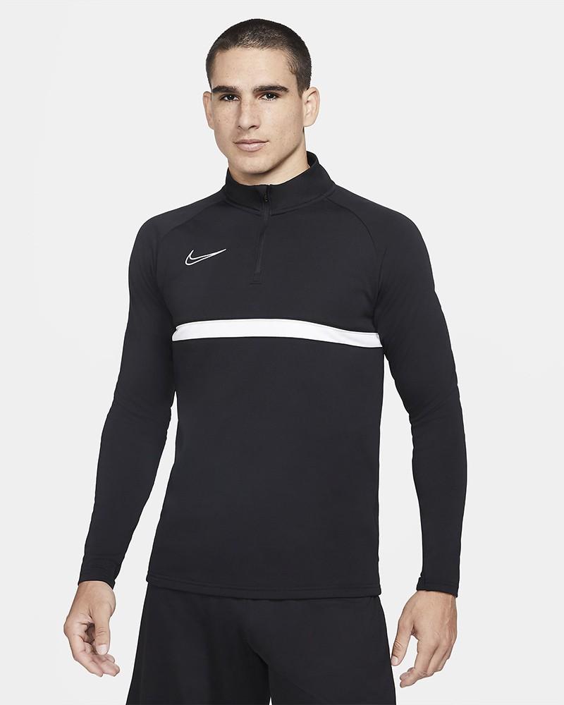 Nike Dril Top Felpa Allenamento Training Sweatshirt Nero 2021 Uomo 0