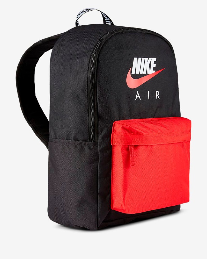Nike Air Heritage Zaino Bag Backpack Nero Rosso Tempo Libero 0
