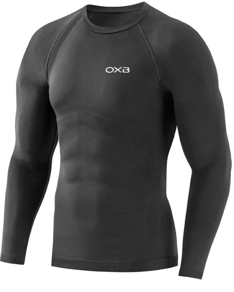 Oxyburn Intimo Tecnico Nero maniche lunghe Maglia Termica 5061 Core Unisex 0