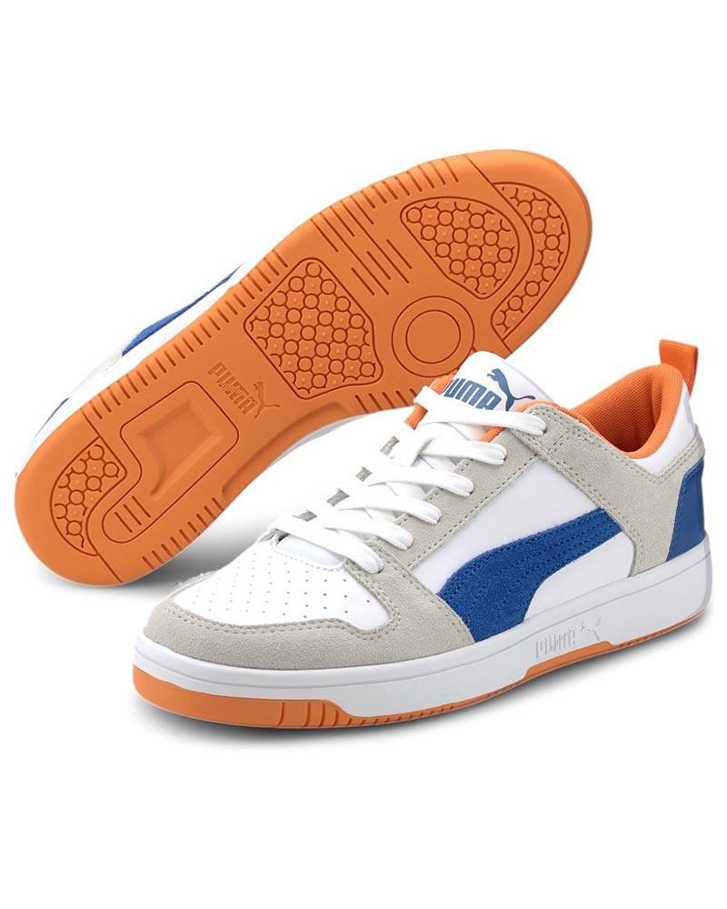 Puma Scarpe Sportive Sneakers Bianco Rebound Layup LO SD pelle Uomo 0