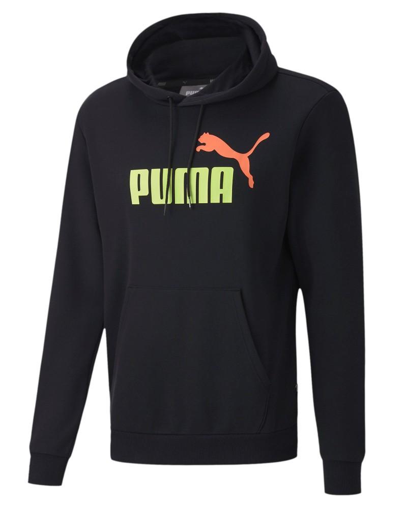 Puma Felpa Cappuccio Hoodie ESS Col FL BIg Logo Nero 2020 Uomo con tasche 0