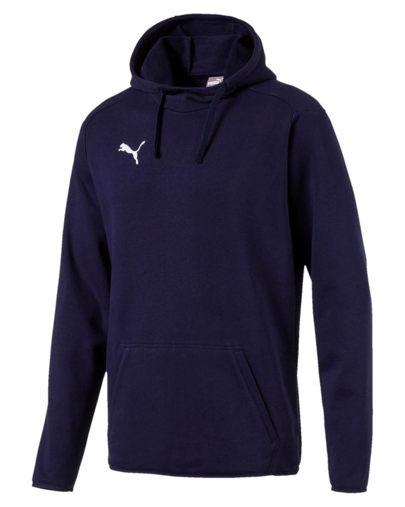 Puma Hoodie pullover Blu Cotone French Terry LIGA CASUALS con tasche Uomo 0