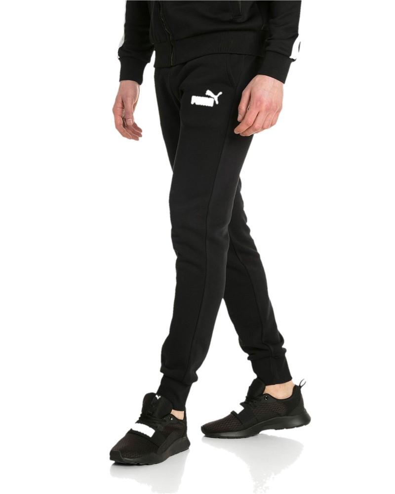 Puma Pantaloni tuta Pants nero Caviglia stretta con elastico ess logo FL CL 0