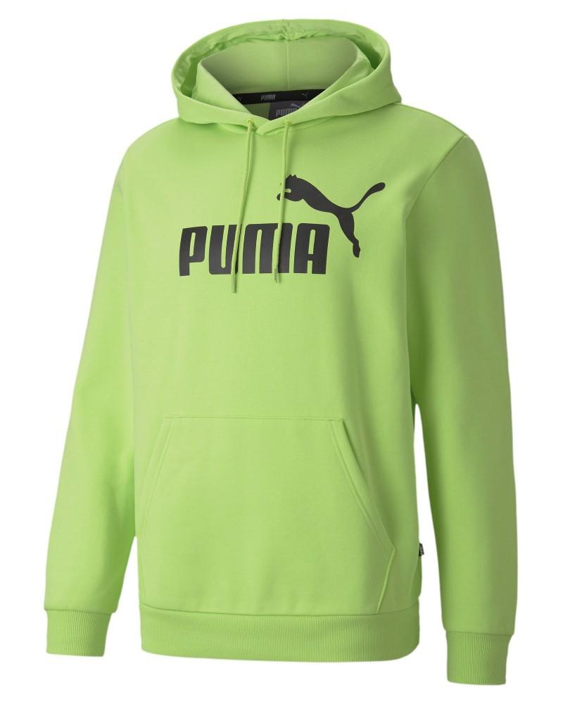 Puma Felpa Cappuccio Hoodie Verde 2020 21 ESS FL Big Logo con tasche Uomo 0