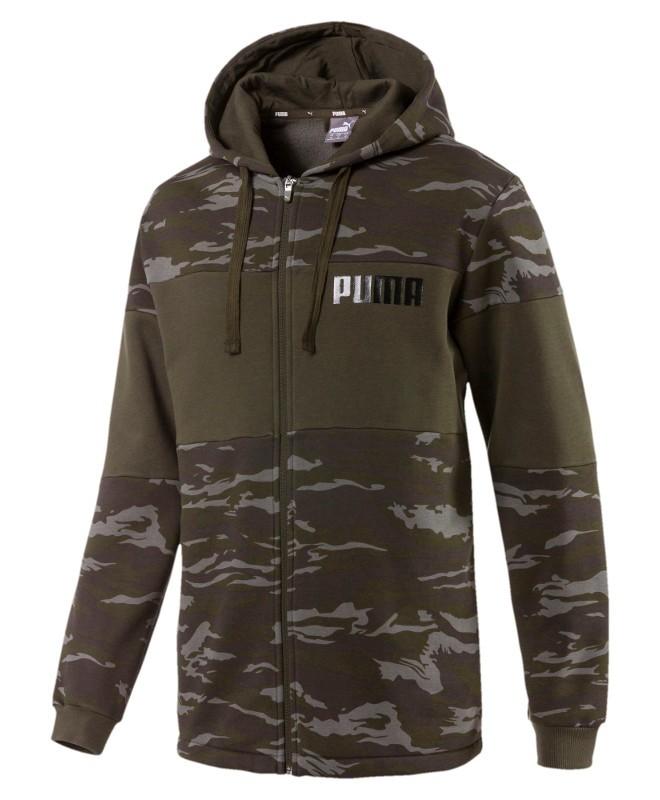 Puma Giacca Sportiva HD FZ Verde Camouflage cotone Lifestyle sportswear 0