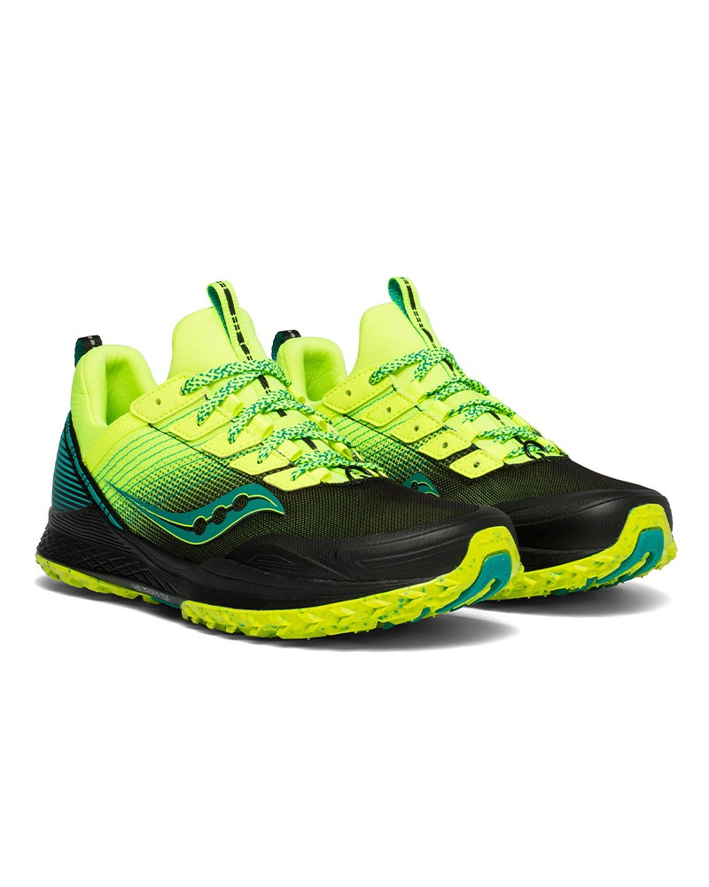 Saucony Scarpe TRAIL Running Sneakers Giallo Mad River TR Neutra Uomo 0