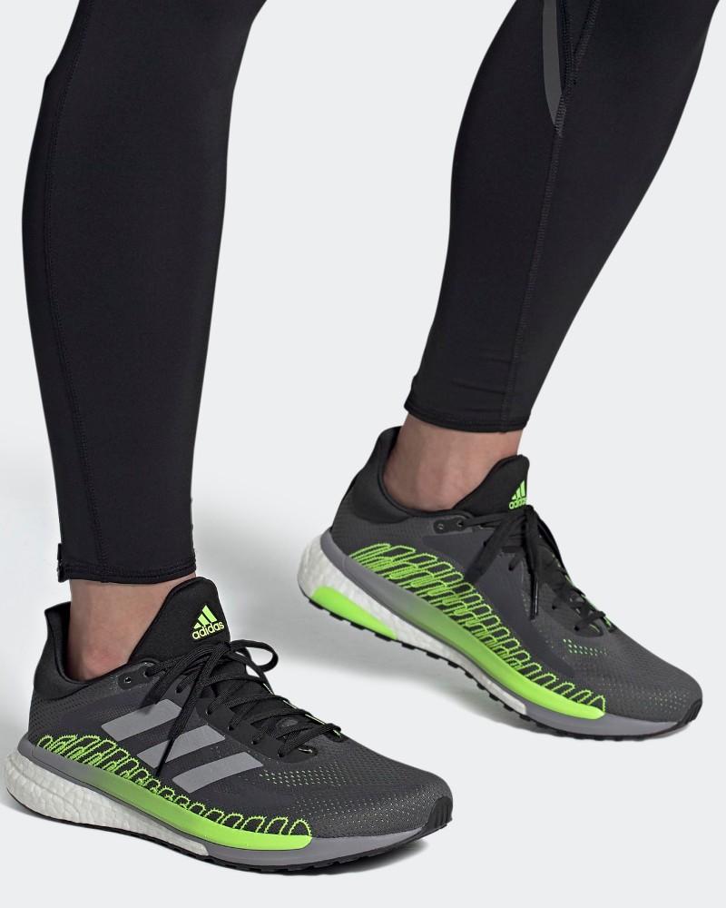 Adidas Scarpe da Corsa Running Sneakers Trainers Grigio Boost Solar glide Uomo 0