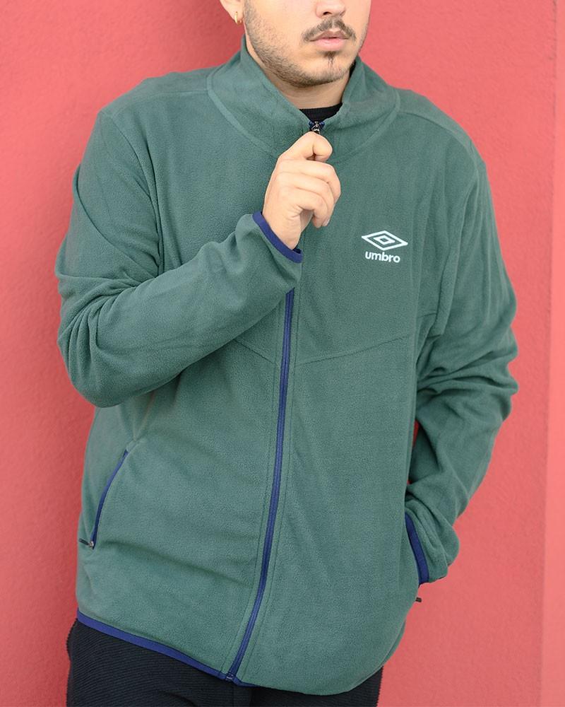 Umbro Giacca Sportiva Essentials MicroPile Verde Normale Sportswear Lifestyle 0