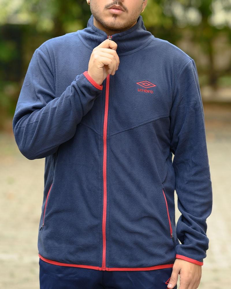Umbro Giacca Sportiva Essentials Micropile Blu Sportswear Lifestyle
