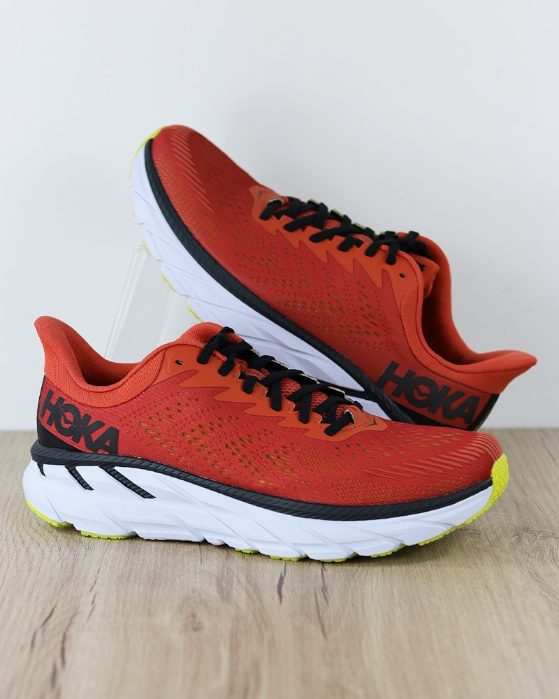 Hoka ONE ONE Scarpe Corsa Running Shoes Sneakers M CLIFTON 7 Rosso Uomo 0