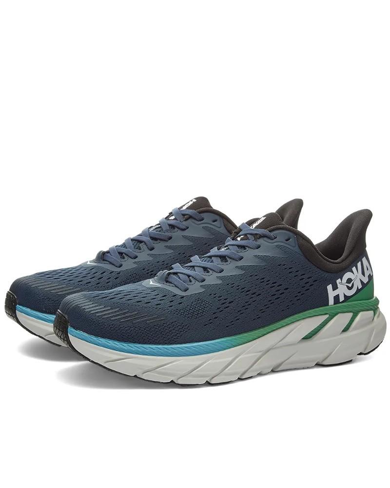 Hoka ONE ONE Scarpe Corsa Running Shoes Blu Verde M CLIFTON7 Uomo NEUTRA 0
