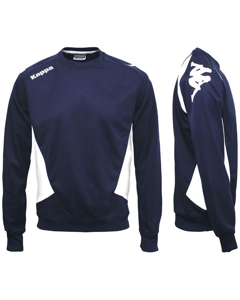 Kappa CREMONE Felpa Allenamento Training Sweatshirt Blu Uomo aderente 0