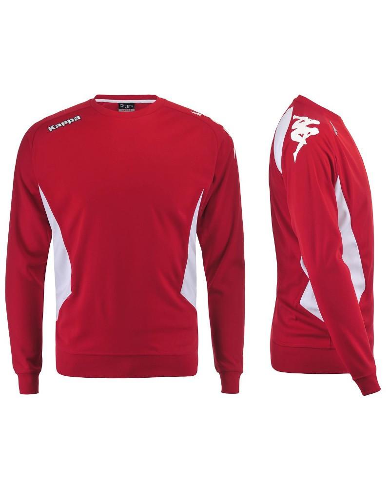 Kappa CREMONE Felpa Allenamento Training Sweatshirt Rosso aderente Uomo 0