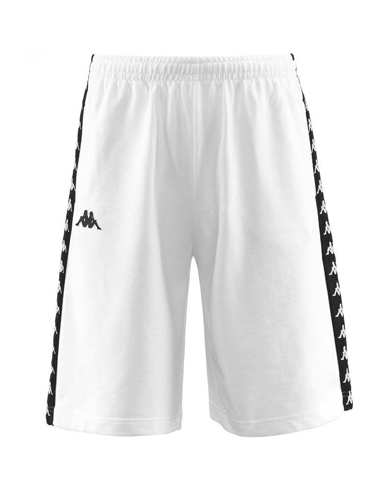 Kappa Banda 222 Pantaloncini Shorts Uomo Bianco Cotone TREADS Continuativa 0