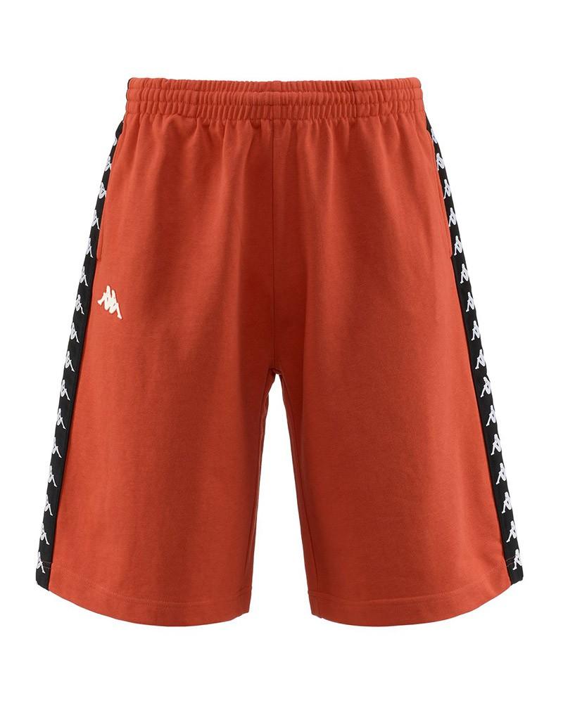 Kappa Banda 222 Pantaloncini Shorts Arancione TREADS con tasche Uomo Cotone 0