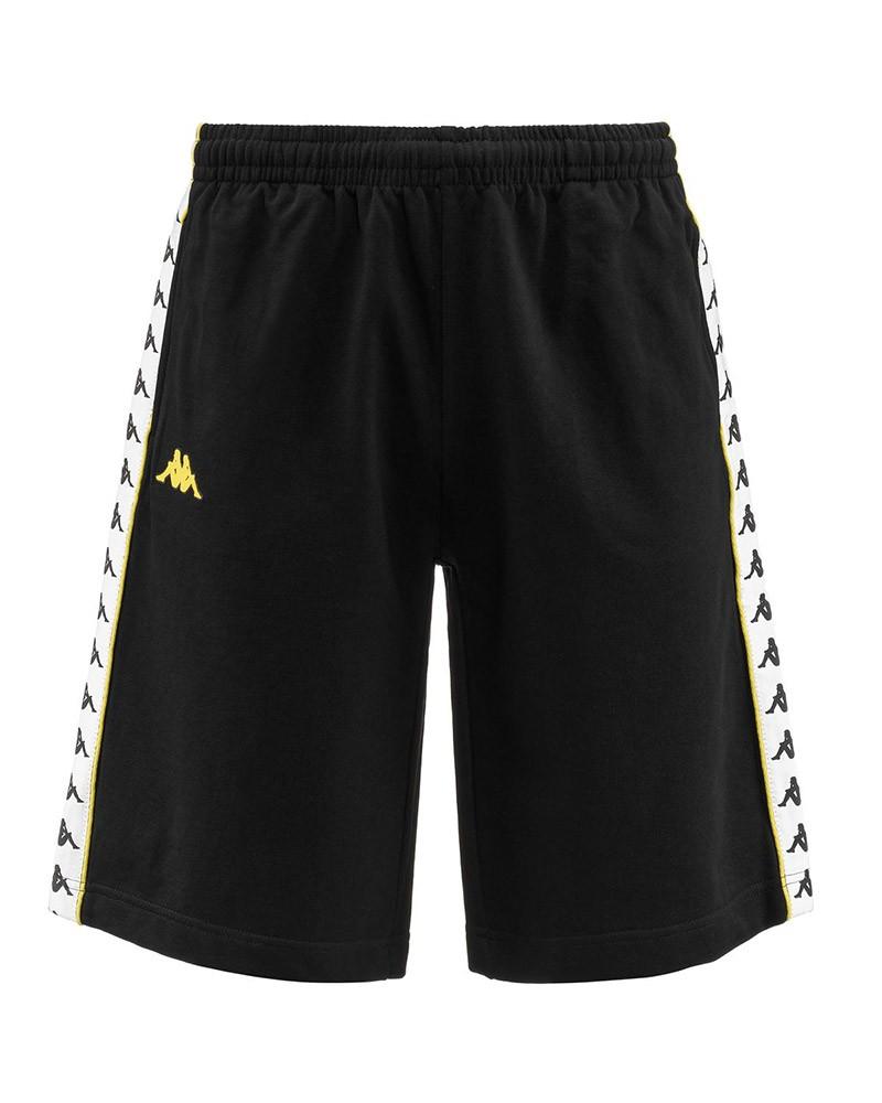 Kappa Banda 222 Pantaloncini Shorts TREADS Uomo Nero A13 Cotone 0