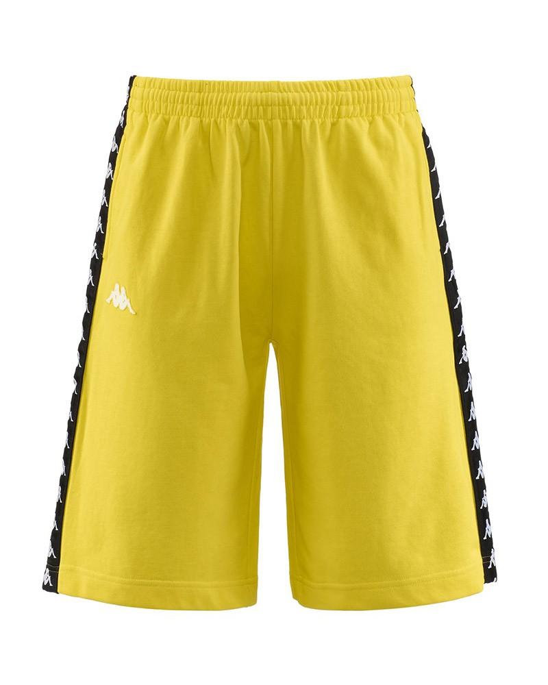 Kappa Banda 222 Pantaloncini Shorts Uomo Giallo TREADS Cotone garzato 0