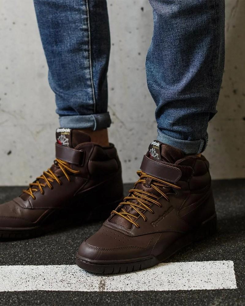 Reebok Scarpe Sportive Sneakers EX-O-FIT HI marrone pelle 0
