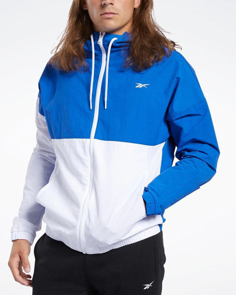 Reebok TRAINING ESSENTIALS WINDBREAKER Giacca Sportiva Uomo Blu 0