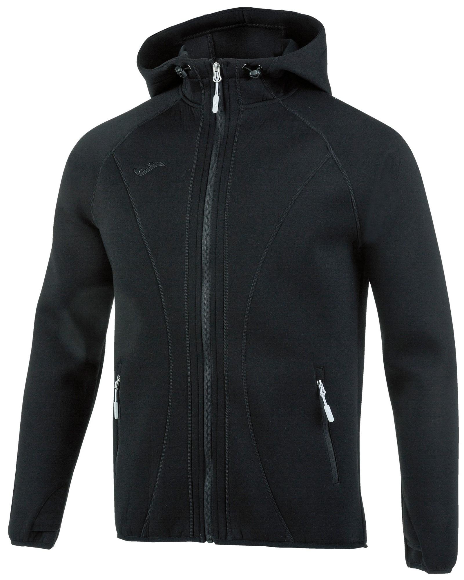 Joma Giacca Sportiva sport Jacket SoftShell Basilea con TASCHE a ZIP -Nero - 1000