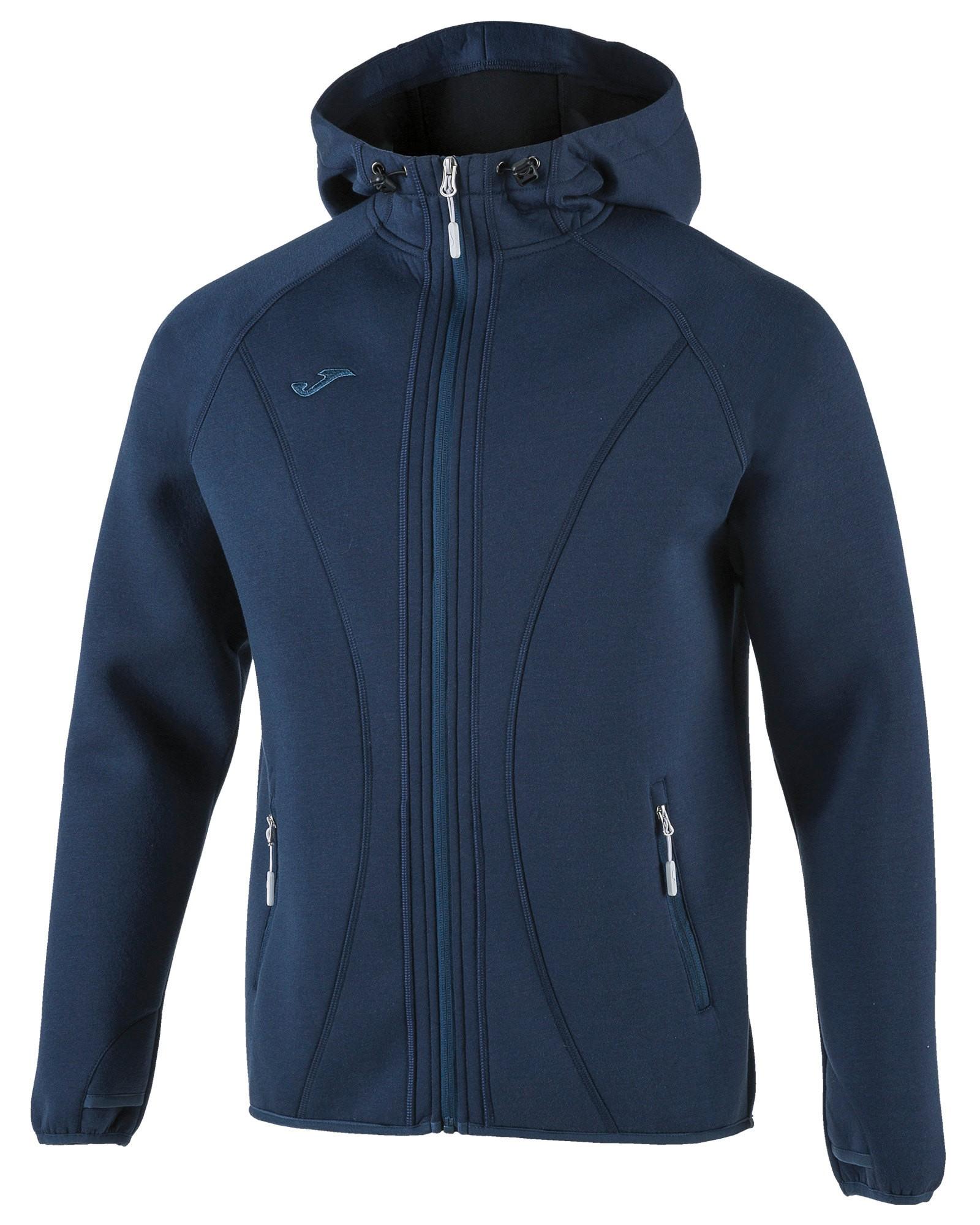 Joma Giacca Sportiva sport Jacket SoftShell Basilea con TASCHE a ZIP -Blu - 3310
