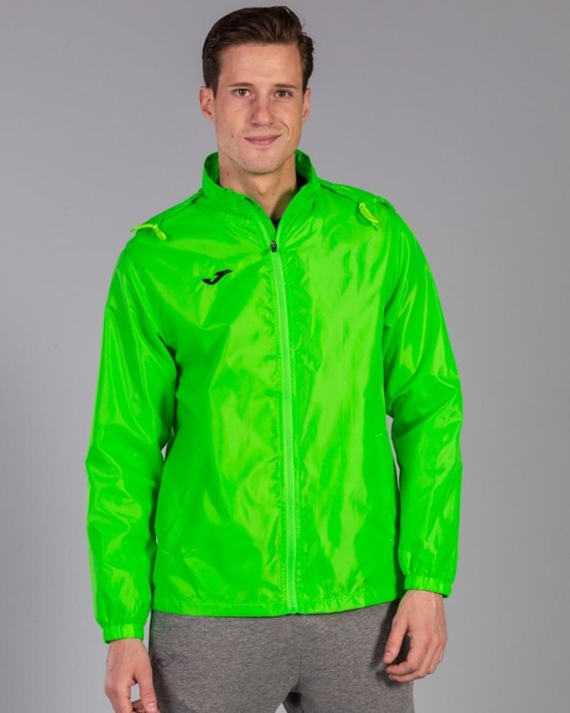Joma Giacca vento pioggia windbreaker Iris Uomo tasche a zip -Verde Fluo 0200