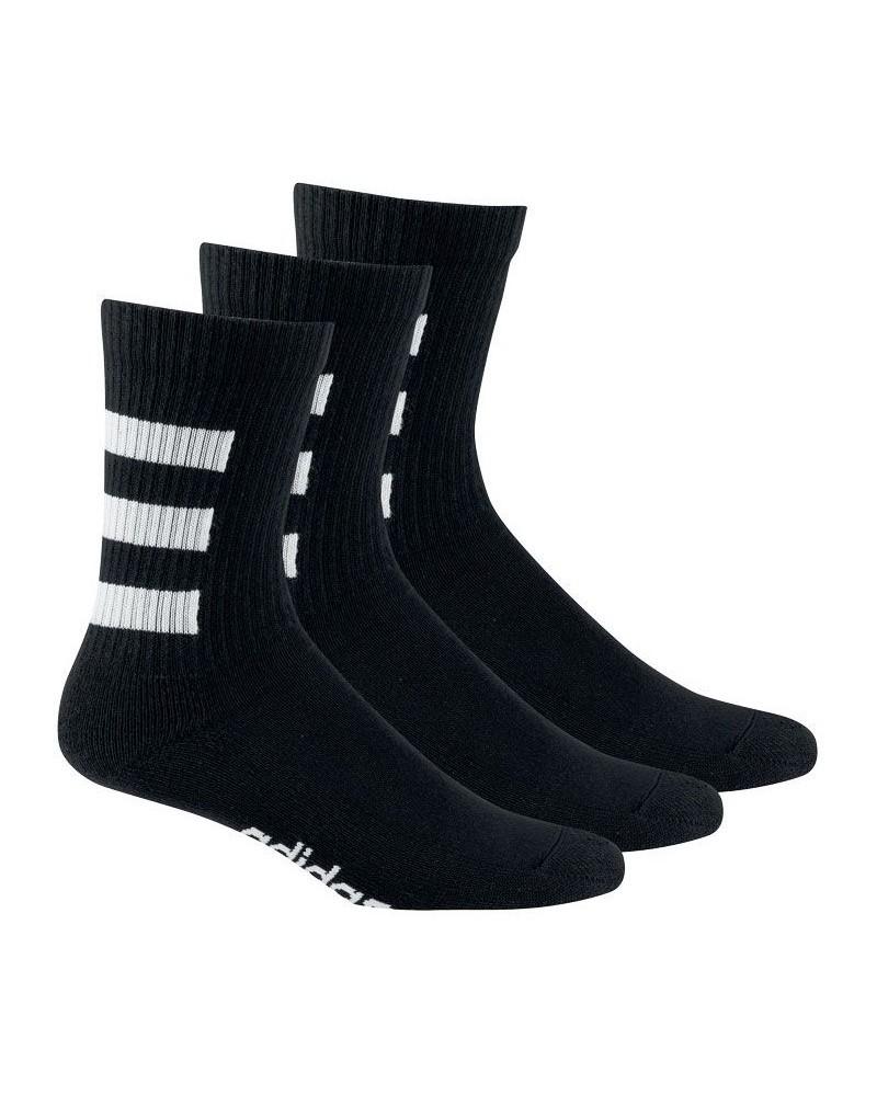 Adidas 3S HC CREW 3PP Calzettoni Socks Unisex Nero cotone 0