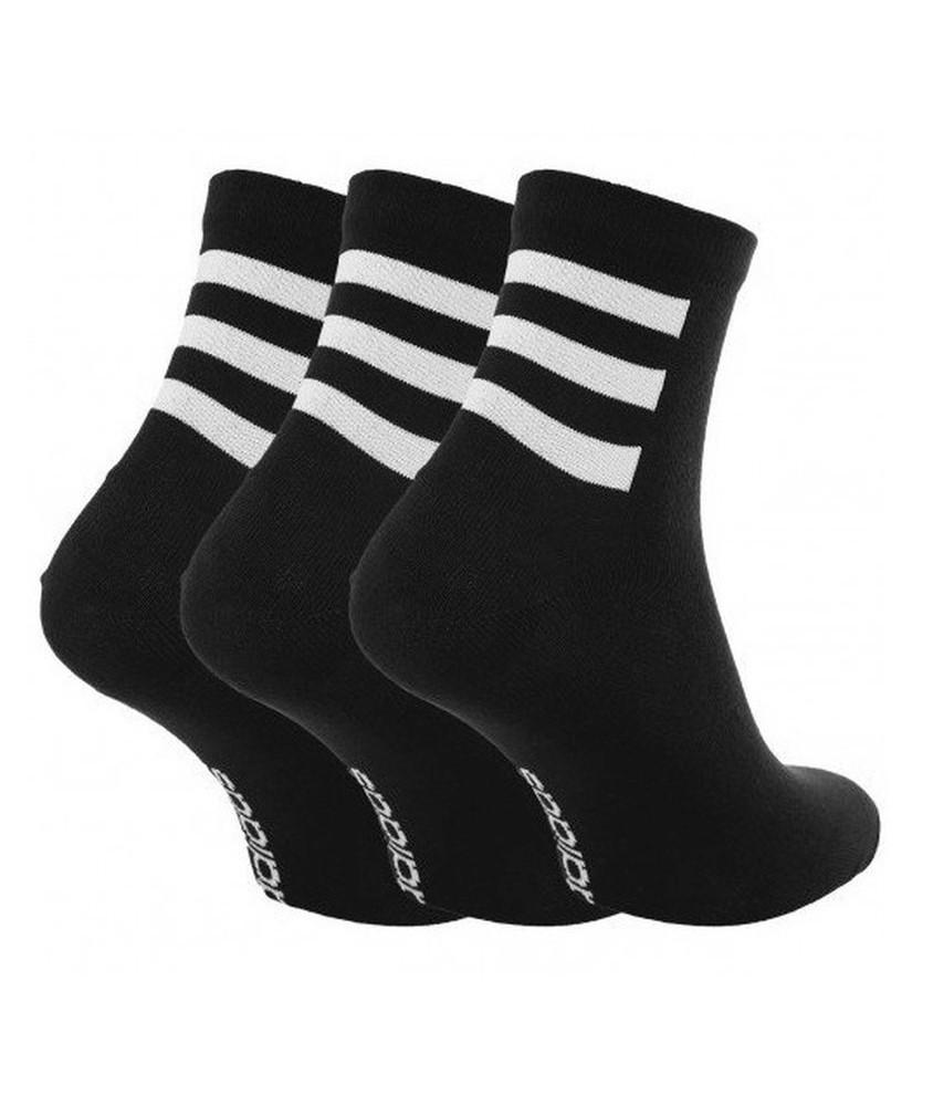Adidas CREW 3 STRIPES 3 PAIA di calze calzini Unisex Nero cotone . 0