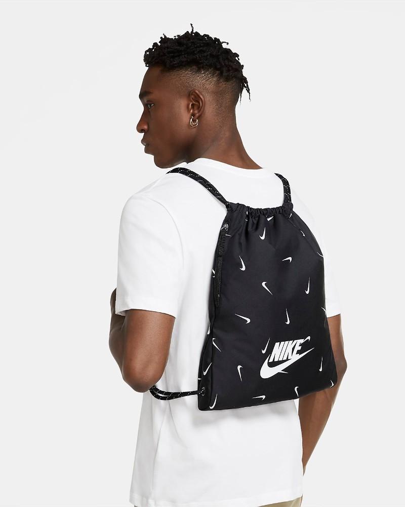 Nike Sacca GymSack Heritage sportswear Nero Unisex 2021 poliestere 0