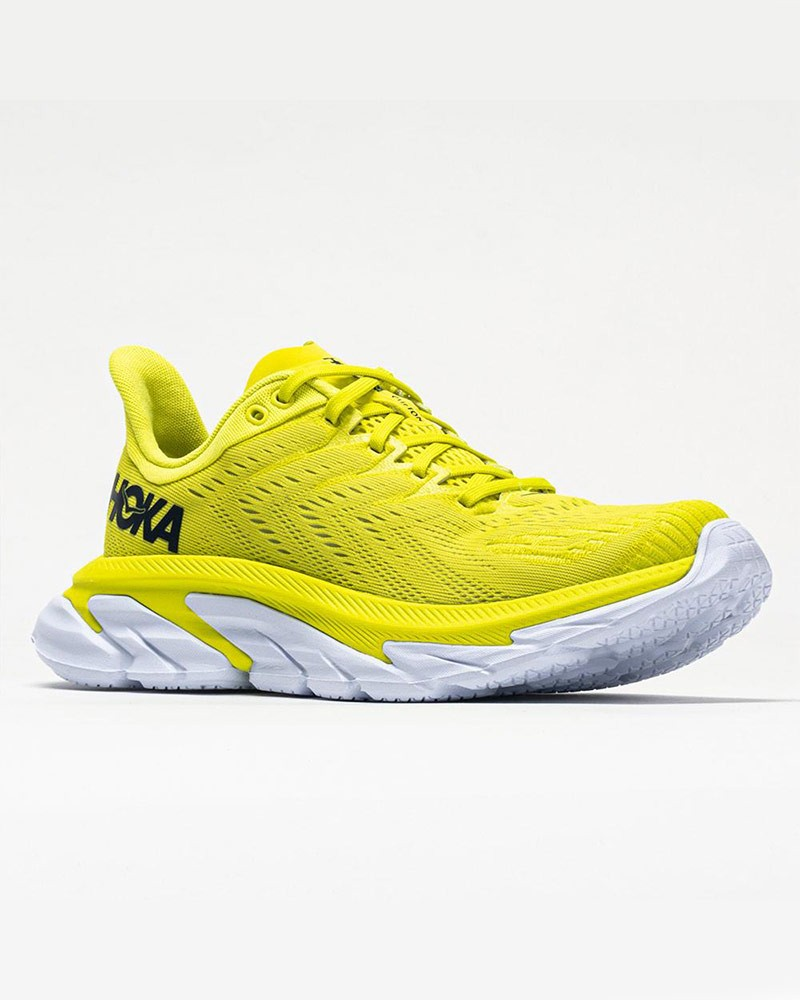 Scarpe Corsa Running Sneakers UOMO Hoka ONE ONE Giallo Fluo CLIFTON EDGE Veloci 0