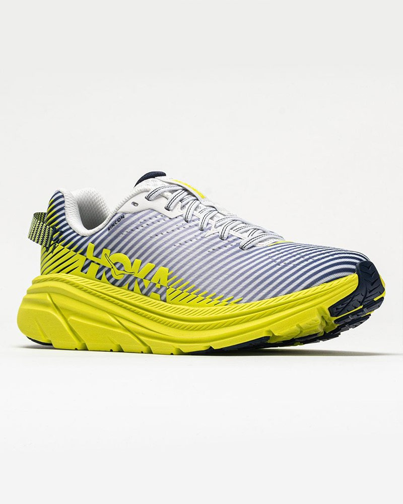 Scarpe Corsa Running Sneakers UOMO Hoka ONE ONE Bianco Giallo RINCON 2 Veloci 0