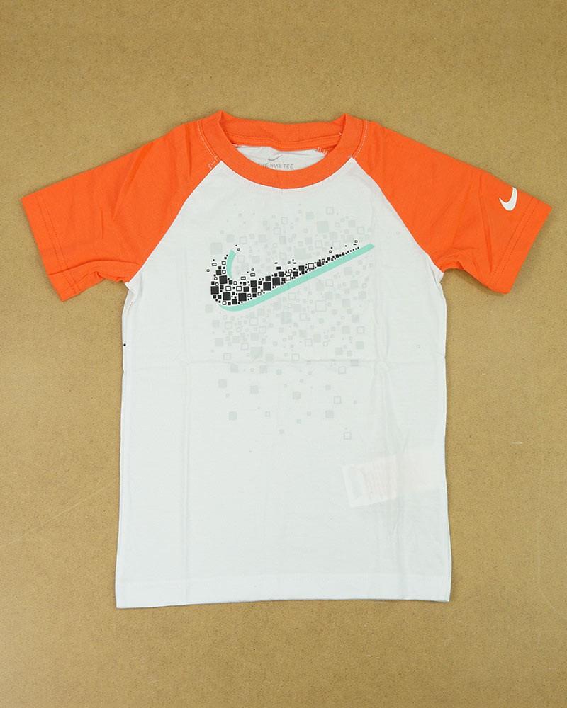 T-shirt maglia maglietta Bambini Unisex Nike GRAPHIC RAGLAN Bianco Cotone