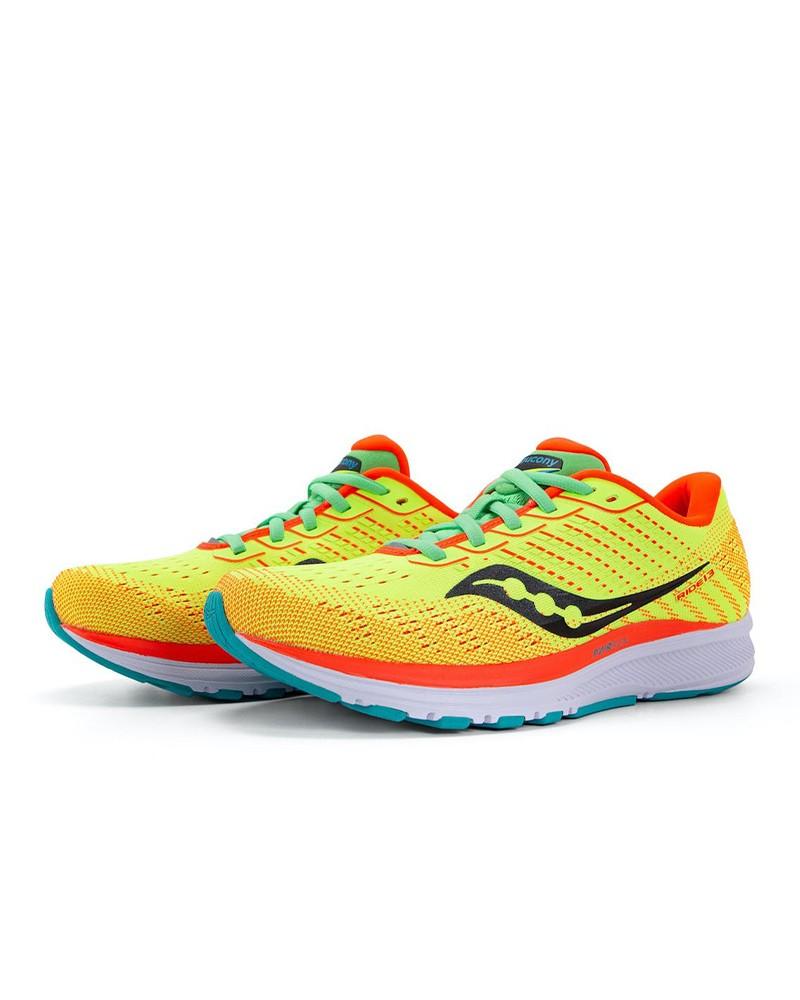 Scarpe Corsa Running Sneakers DONNA Saucony Giallo Ride 13 W Neutre 2021 8 mm 0
