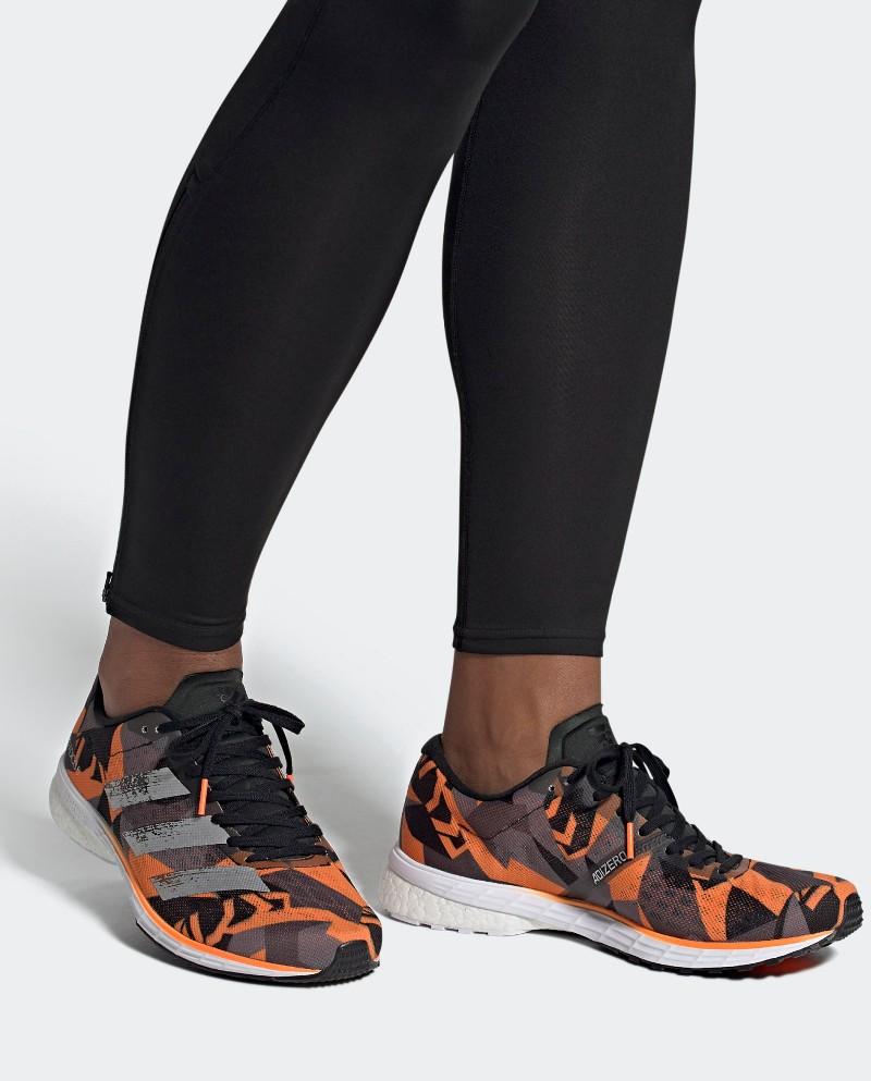 Scarpe Corsa Running Sneakers UOMO Adidas Arancione Camo Boost ADIOS 5 Veloci 0