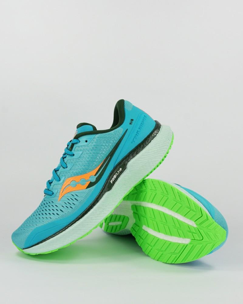 Scarpe Corsa Running Sneakers UOMO Saucony Blue Triumph 18 Ammortizzate airmesh 0