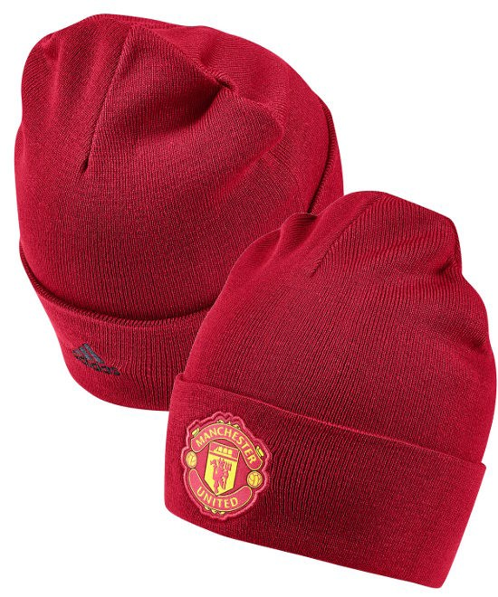 Manchester United Adidas Cappello di lana invernale zuccotto tg unisex Rosso 0