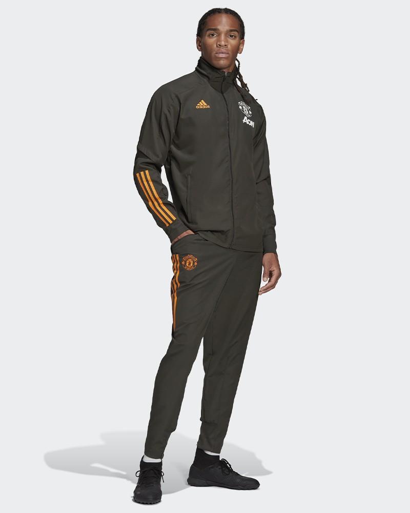 Manchester United Adidas Tuta Rappresentanza 2020/21 Presentation UOMO Verde 0