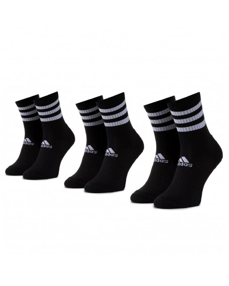 3-STRIPES CUSHIONED Adidas Calze Calzini Calzettoni Socks 3 paia Unisex Nero 0